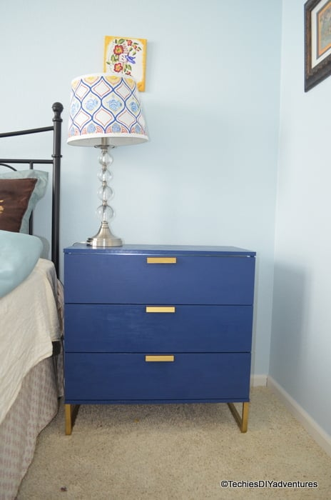 ikea trysil dresser makeover inspired by one kings lane. Black Bedroom Furniture Sets. Home Design Ideas