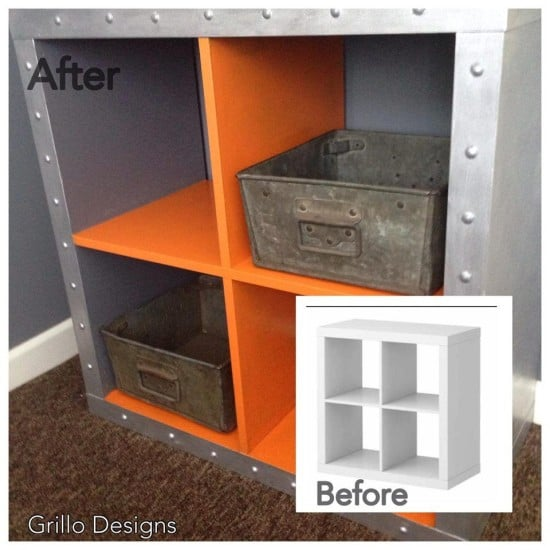 IKEA Expedit industrial hack before-after