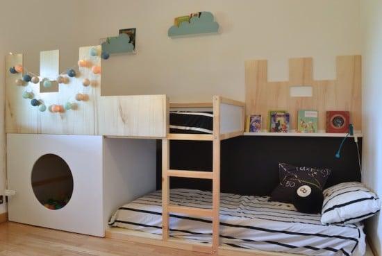 IKEA kura castle bunk bed - completed