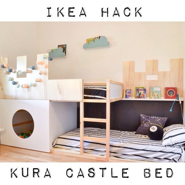 Cute KURA castle bunk bed