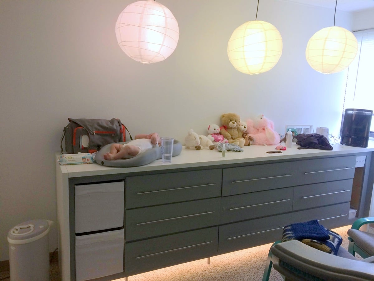 Ikea Glasvitrine Beleuchtung ~ EXPEDIT KALLAX MALM hybrid chest of drawers for remodeled nursery