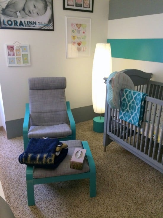 Painted POANG for remodeled nursery | IKEA Hackers