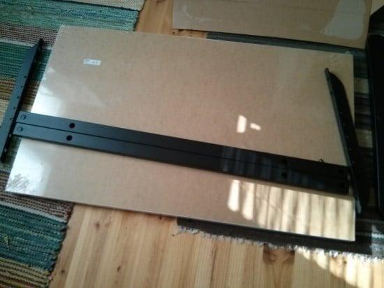 An adjustable width Bekant desk | IKEA Hackers