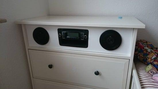 Built-in HEMNES stereo for Kids