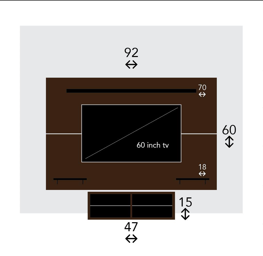 Ikea Tv Wall Module Mount Sketch