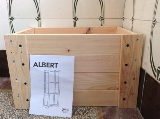 IKEA ALBERT DIY crate