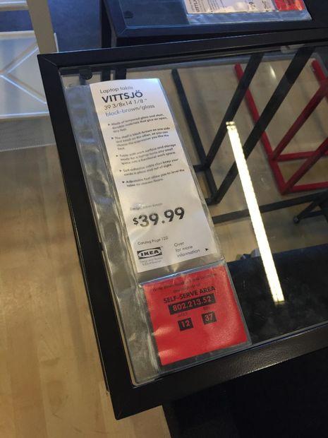 IKEA VITTSJO laptop table