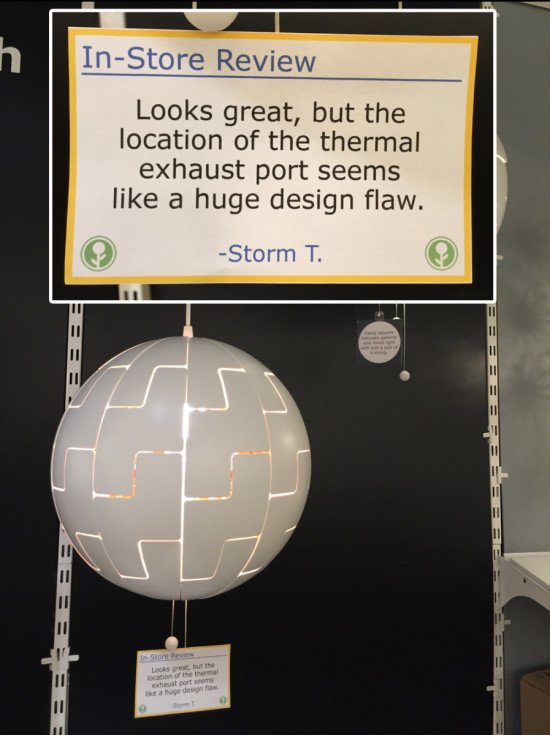 10 - Funny in-store IKEA reviews