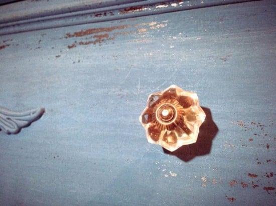 Antiquing wardrobe dresser - vintage knobs