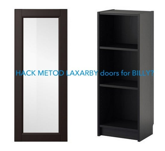 hackers help metod laxarby doors on billy bookcase. Black Bedroom Furniture Sets. Home Design Ideas
