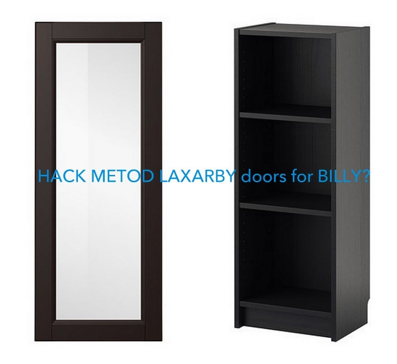 Hackers Help Metod Laxarby Doors On Billy Bookcase