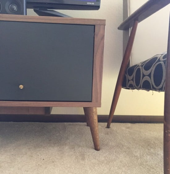 IKEA Stockholm Mid Century TV stand - close up