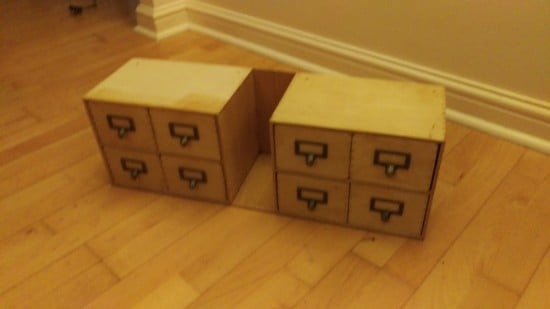 MOPPE drawers for antique bureau