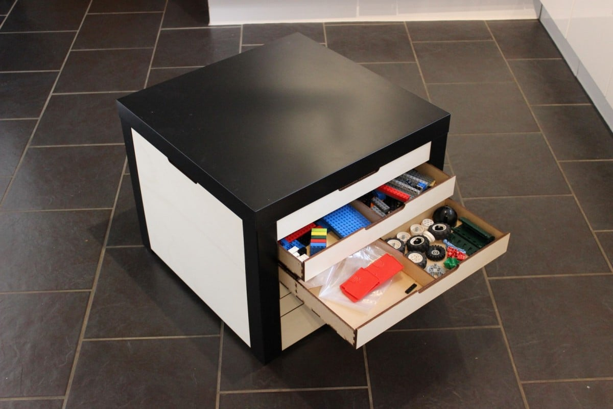 Lack Table With Lego Storage Drawers Ikea Hackers Ikea