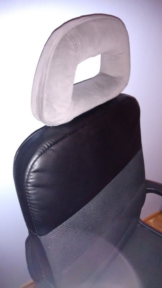 Slot in the head rest