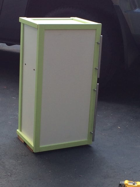 IKEA APA toy storage turned DIY Play fridge - completed