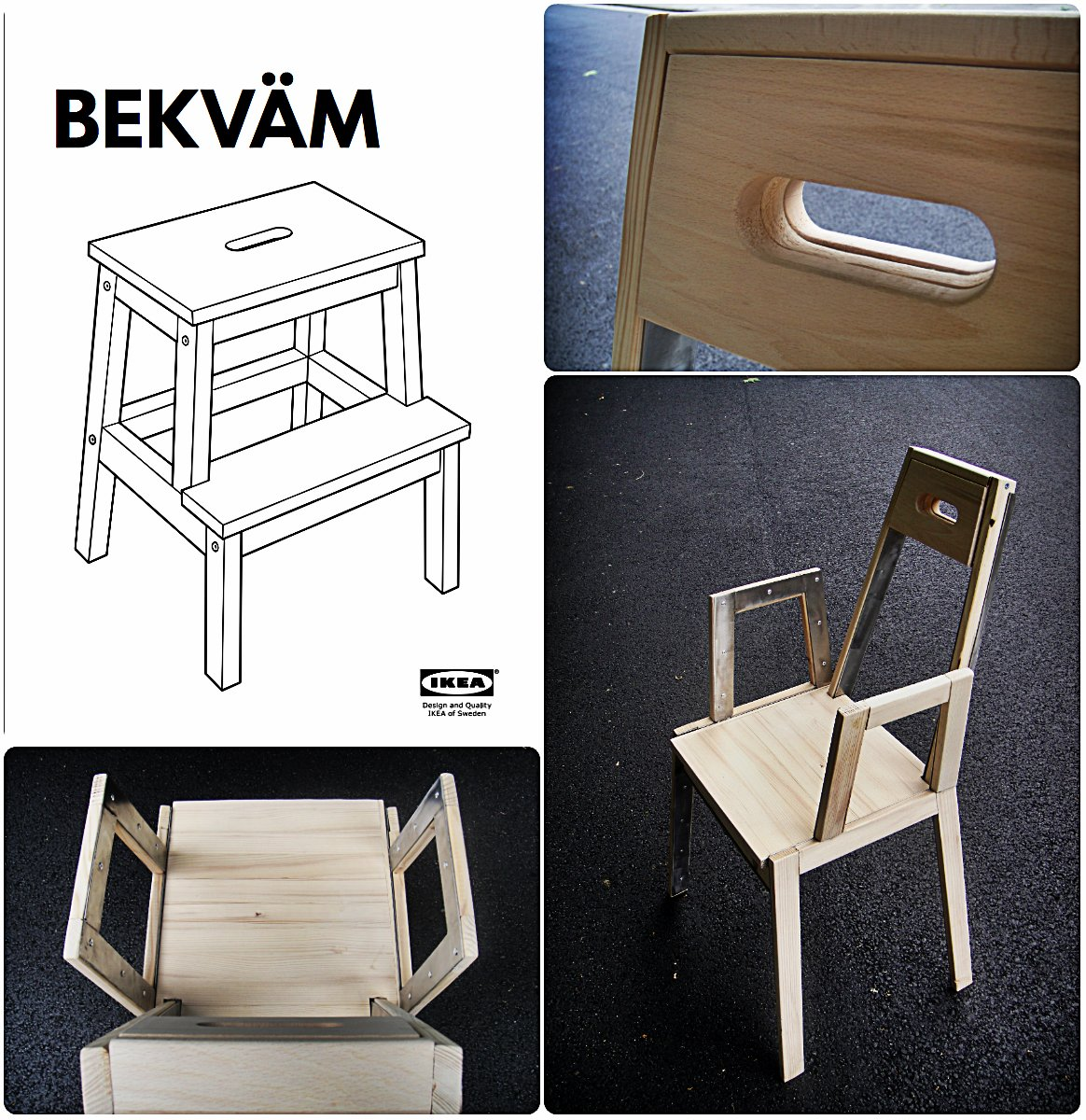 Bekv m chair project ikea hackers ikea hackers - Ikea portaspezie bekvam ...