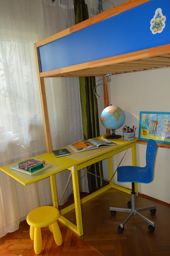 KURA Bed with study desk 2