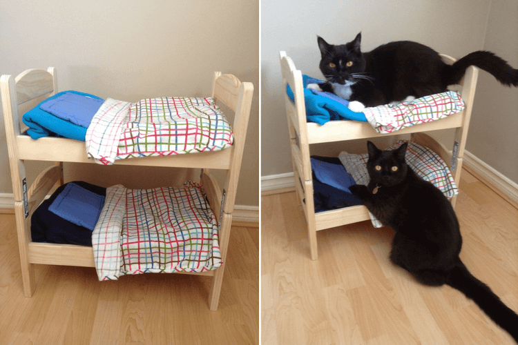 cat bunk bed ikea duktig hack