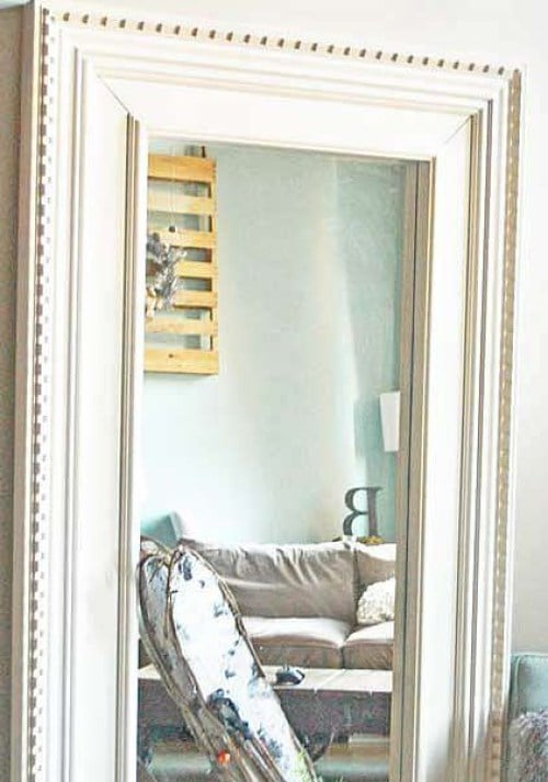 how to makeover the ikea mongstad floor mirror