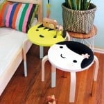 Kawaii design on IKEA FROSTA stool