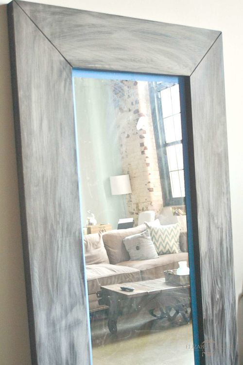 IKEA Mongstad mirror makeover - sanding