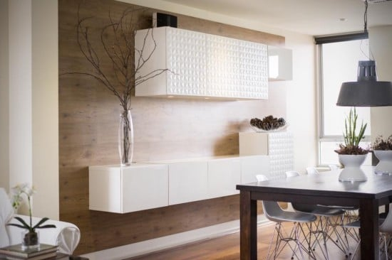 TUNDRA wall panels matched with BESTA cabinets