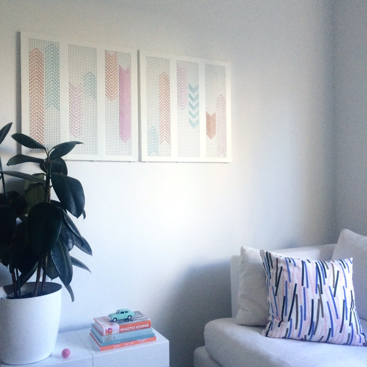 Broken ALGOT Shelf To Wall Art For Living Room