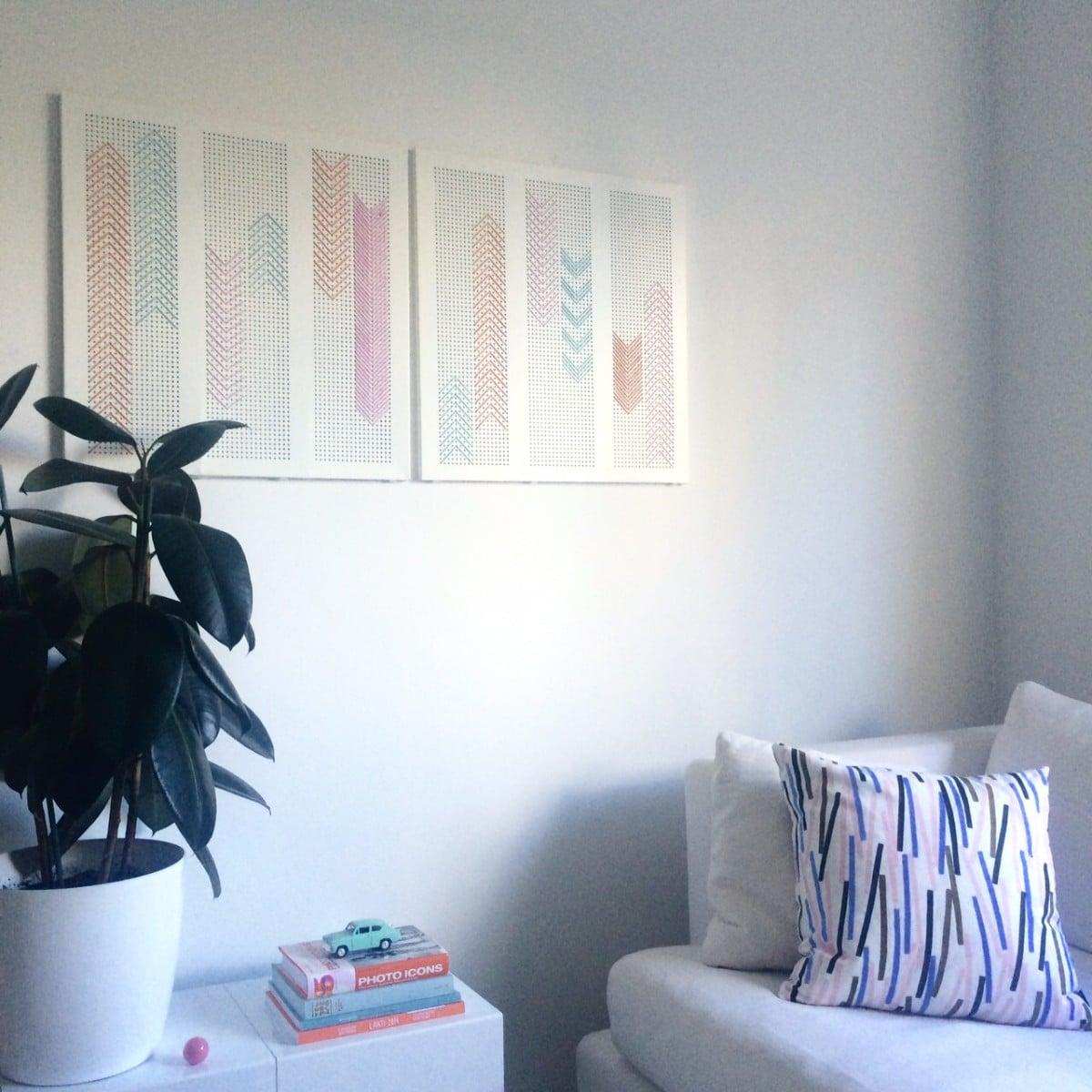 Broken Algot Shelf To Wall Art For Living Room Ikea Hackers