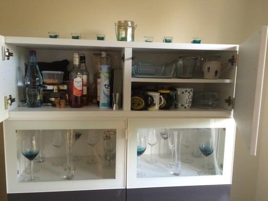 IKEA BESTA hidden litter tray and wine storage