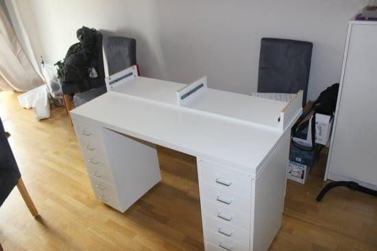 Dressing table - shelving unit