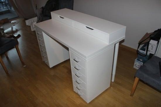 Dressing table - shelving unit done