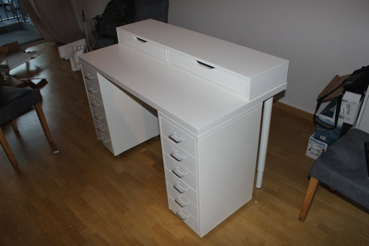 An affordable IKEA dressing table (makeup vanity) , IKEA Hackers