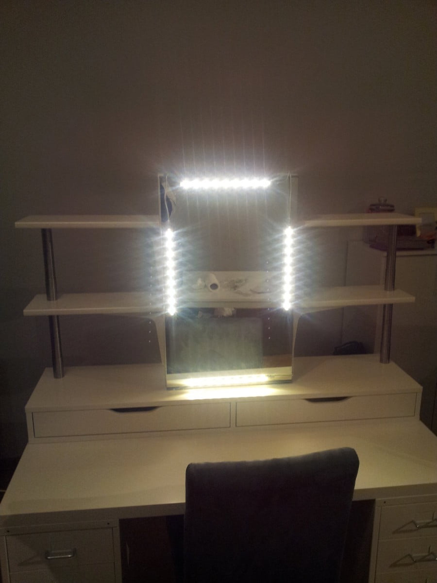 Vanity Led Light Strip : An affordable IKEA dressing table (makeup vanity) - IKEA Hackers - IKEA Hackers