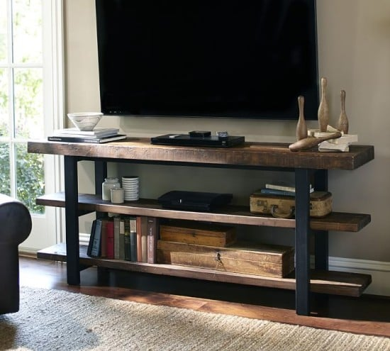 Pottery Barn's Griffin Reclaimed Wood Media Console $1099