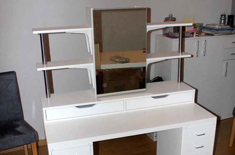 An Affordable Ikea Dressing Table Makeup Vanity Hackers Rh Ikeahackers Net Desk Into Hack