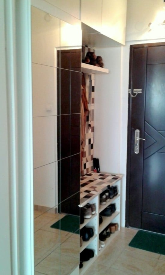 Our landing space with IKEA METOD hallway storage