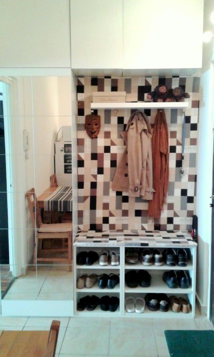 Foyer Storage Ikea : Hallway storage from ikea metod kitchen cabinets