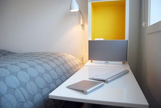 BESTA door serves as a nightstand table