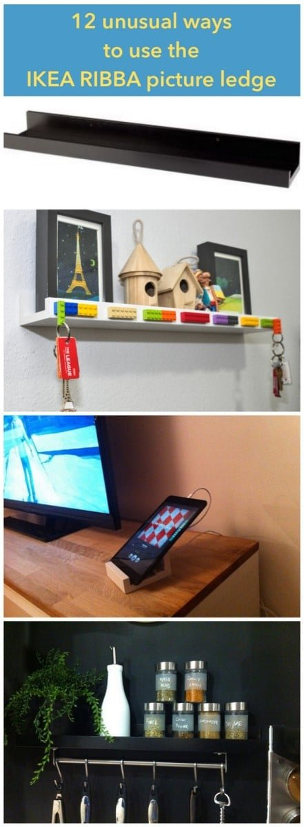 12 unusual ways to use the RIBBA picture ledge all round the house