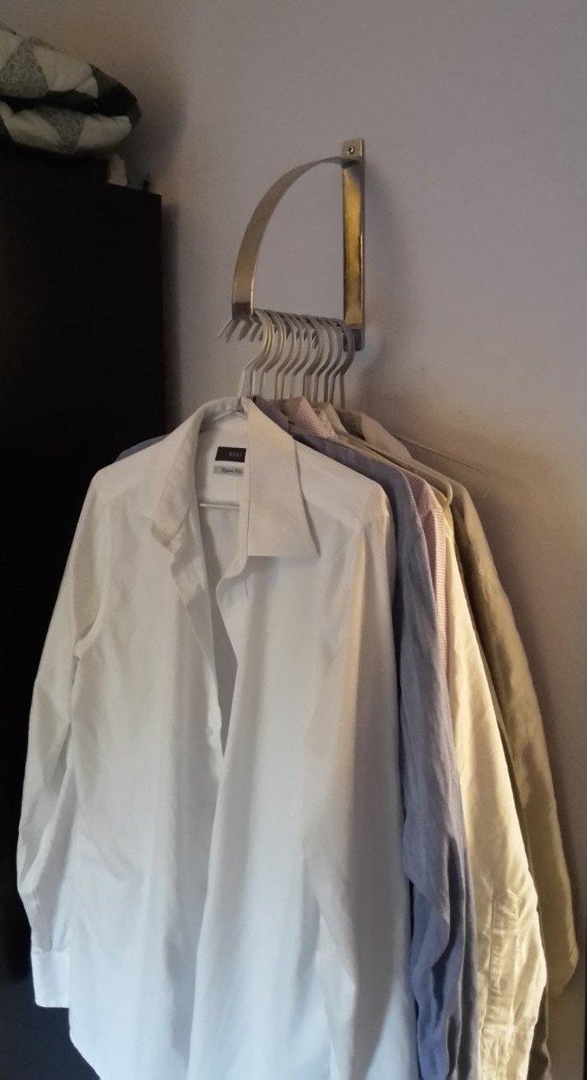 Ekby robert bracket as clothes hanger ikea hackers - Ikea perchas ropa ...