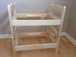 diy cat bunk bed using ikea DUKTIG doll bed