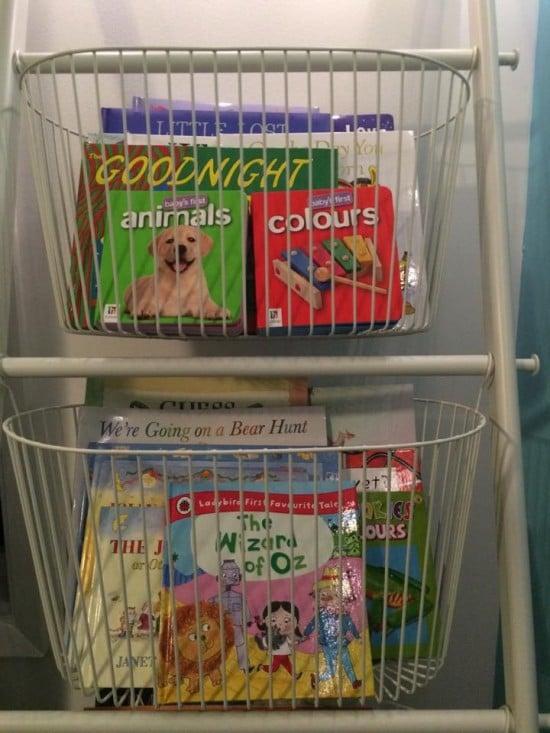 Sprutt baskets for books
