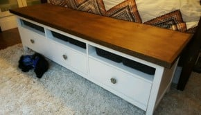 Ikea Hemnes Media Console Top Hack