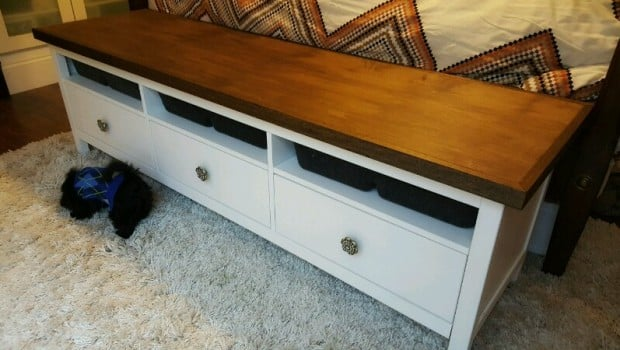 Ikea Hemnes Media Cabinet To Bed End Console Ikea