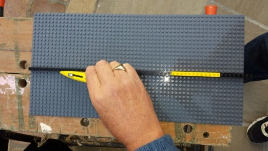 Trim the LEGO base plates