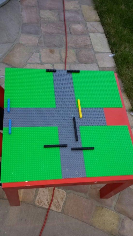 Arrange LEGO base plates