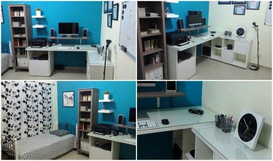 KALLAX LINNMON desk hack
