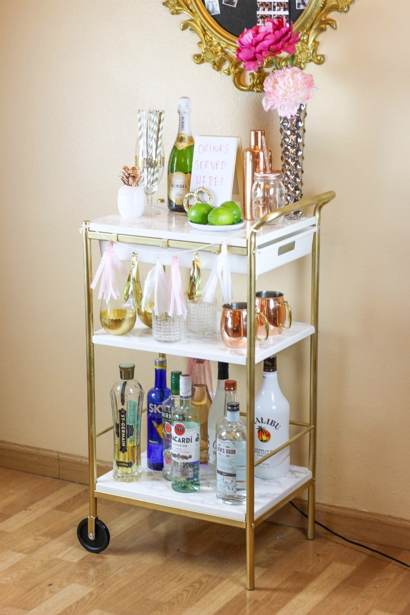 ikea hack gold marble bar cart ikea hackers ikea hackers. Black Bedroom Furniture Sets. Home Design Ideas