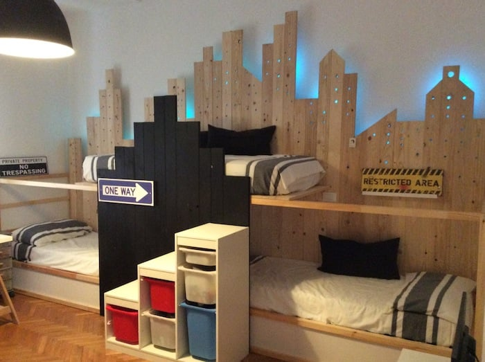 bunk beds for 3 in ikea kura city ikea hackers